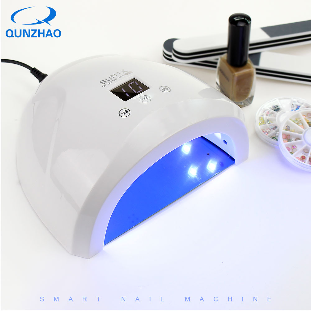 Sun1X UV Nail Lamp Polish LED Light with 365nm 36W for Curing Gel Nail Dryer Manicure Lamp Machine Nail Art Tools 2 in1 effecient 66w led uv light nail art tools equipment dryer gel curing lamp 110 240v 365nm uv bulbs dhl shipping