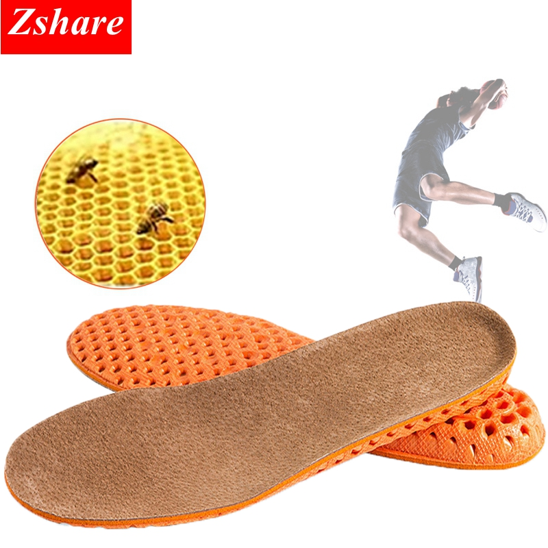 1Pair Unisex Height Increase Insoles Leather Sweat-absorbent Deodorant Breathable Shoe Pad Inserts Foot Care Pad for Men Women