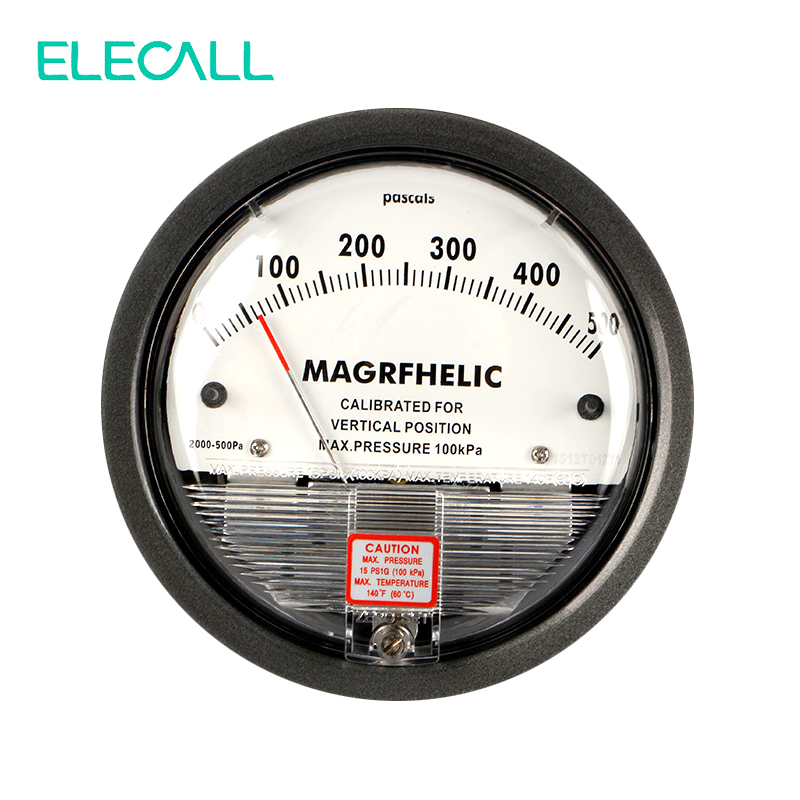 TE2000 0-500Pa Micro Differential Pressure Gauge High Precision 1/8 NPT Air Pressure Meter Barometer High Quality te2000 500pa 500pa micro differential pressure gauge high