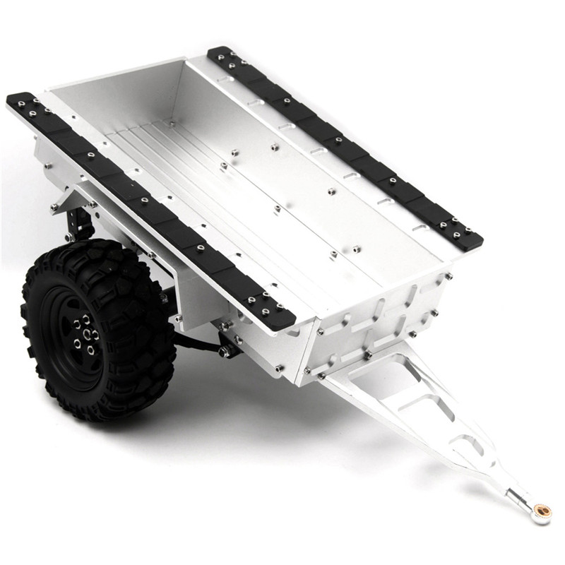 1/10 Scale Aluminum Trailer Lorry For Traxxas trx4 SCX10 CC01 F350 HILUX 90034 RC4WD D90 RC Crawler black carbon fiber battery mounting plate for 1 10 scale rc crawler car axial scx10 cc01 f350 d90 rc4wd