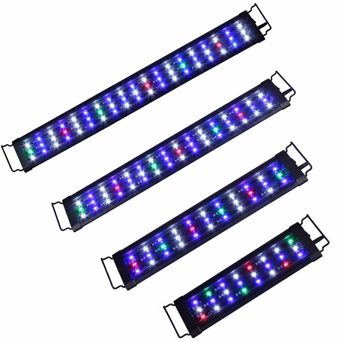 60/90/120cm Aquarium LED Grow Light Full Spectrum LED Phytolamp For Aquatic Plants Aquarium Lighting 110 240V