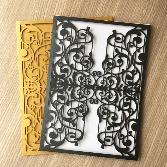 30Pcs New Music Theme Party Birthday Decoration Wedding Invitation Card Greeting Blesing Laser Cut Pearliscent Paper