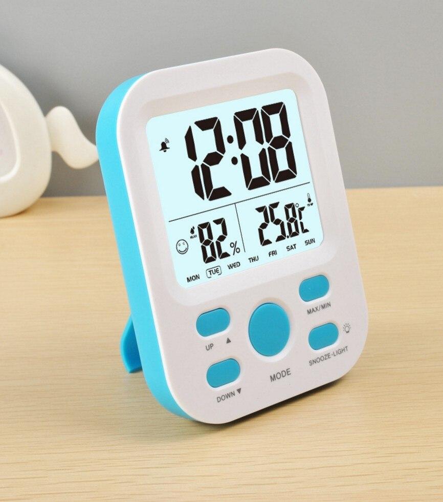 Digital Alarm Clock Large Display Backlight Sensing nixie watch no ...
