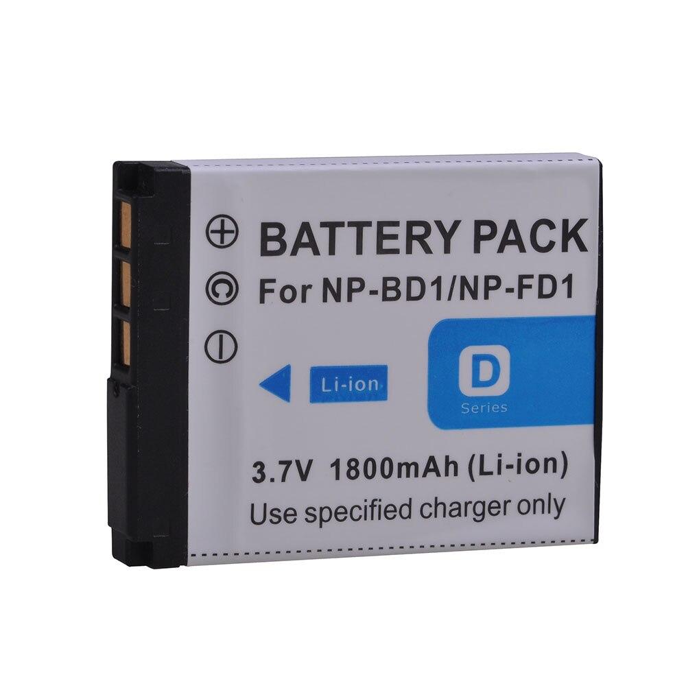 1pcs Powertrust 1800mah Np-bd1 Np-fd1 Np Bd1 Np Fd1 Bd1 Fd1 Battery For Sony T300 Tx1 T900 T700 T500 T200 T77 T900 T90 T70 T2