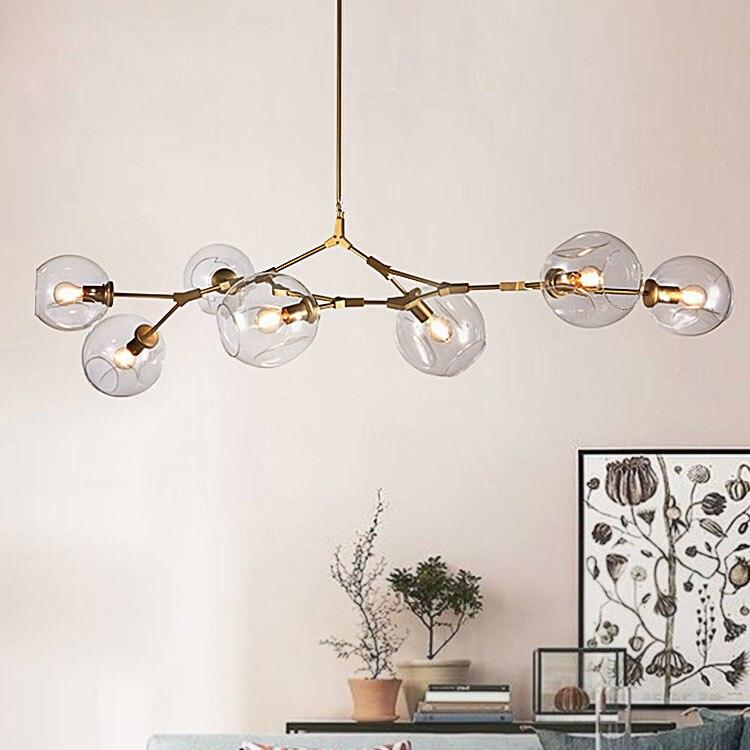 Современный стеклянный подвесной светильник Nordic столовая кухня свет дизайнер подвесные светильники Avize блеск освещение