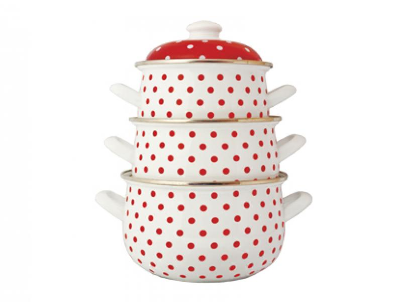A Set Of pans Avsar, Polka Dot, 6 items