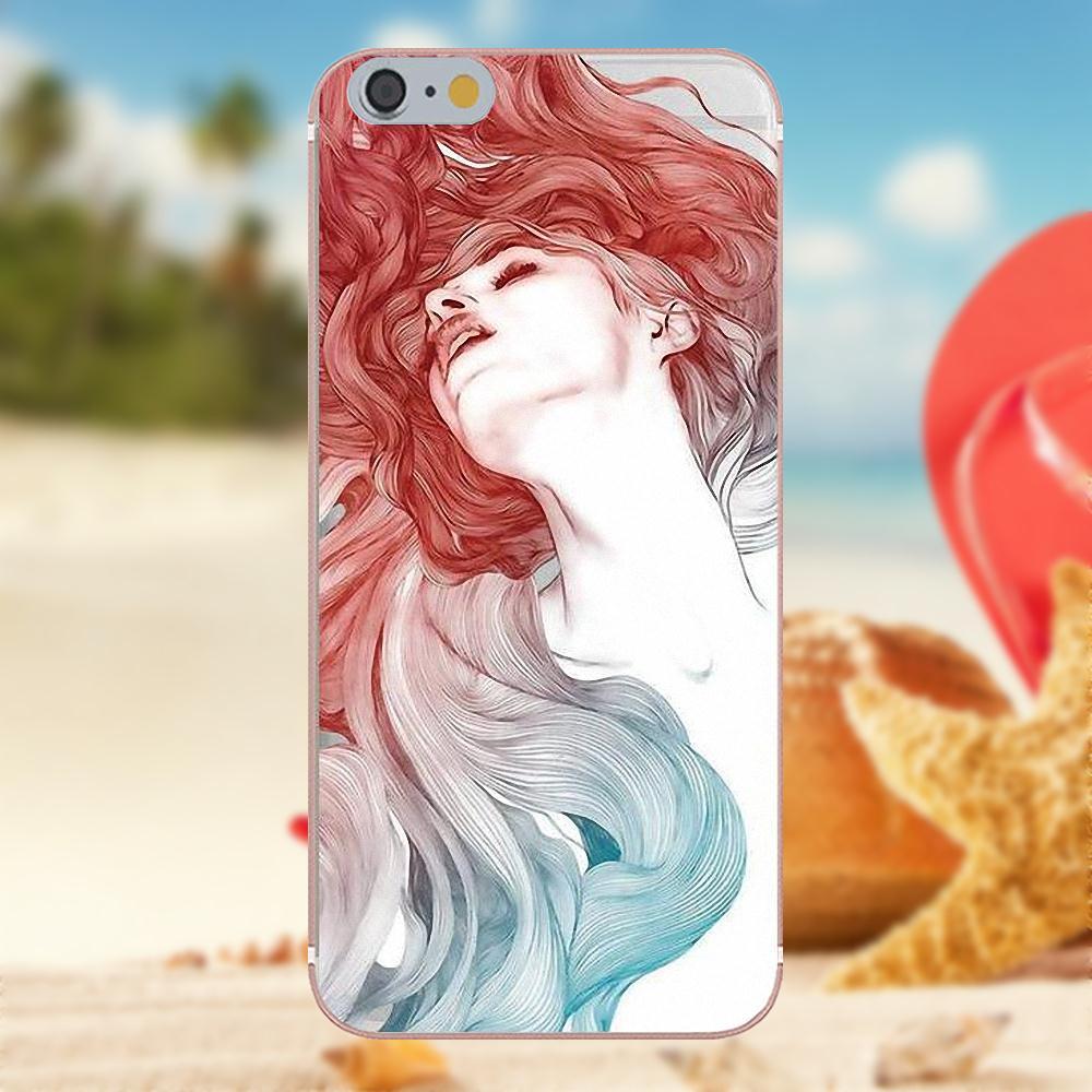 Oedmeb Sexy acuarela patrón de caracteres para iPhone X 4S 5S 5C SE 6 6 S 7 8 Plus Galaxy Nota 5 6 8 S9 + gran Core Prime alfa