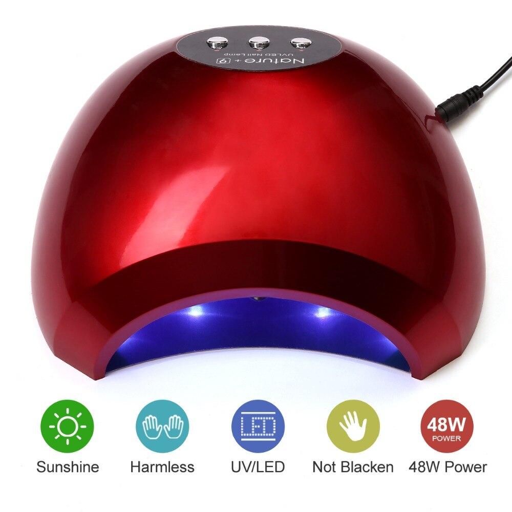 Modelones N9 48 w Ha Condotto La Lampada Del Chiodo Asciugatrice 24 LEDs Veloce Essiccatore UV Della Lampada Per Tutti I Tipi di Gel Del Chiodo A Raggi Infrarossi sensore di Lampada Del Chiodo di Strumenti per Manicure