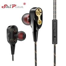 Music Dual Drive Stereo Earphone In-Ear Earbuds Bass Earphones for ASUS ZenFone