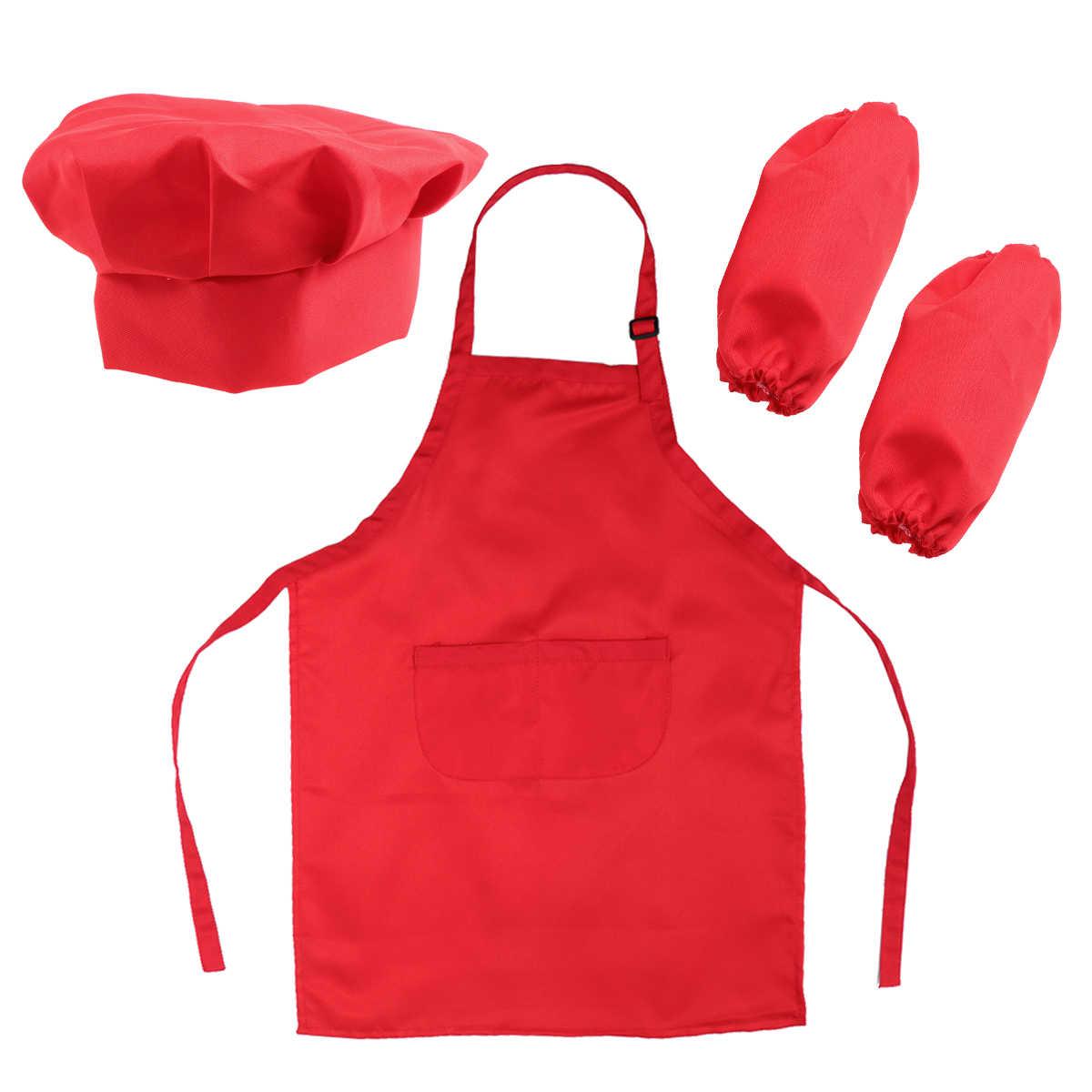 ab645d2782b Juego de Chef para niños juego completo de regalo de cocina con delantal de  sombrero de