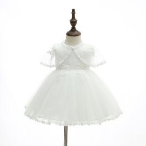 Image 4 - Iyealベビー洗礼ガウン幼児ベビーガールドレス洗礼女少女服夏ドレス結婚式3個