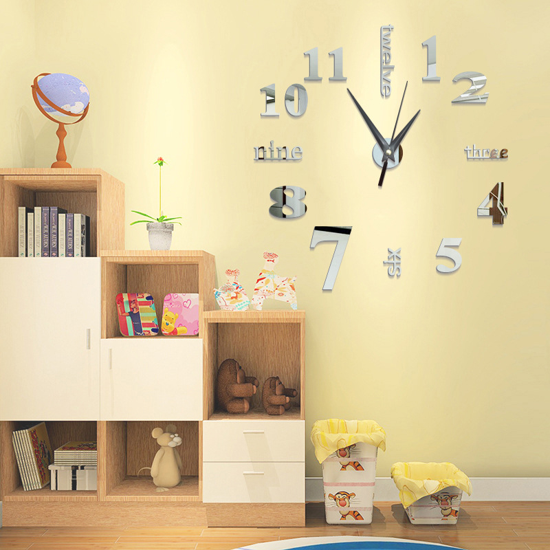 Acrylic Stickers Quartz Home Decoration Big Wall Clock Modern Design 3d Diy Large Decorative Wall Clocks Watch Wall Unique Gift