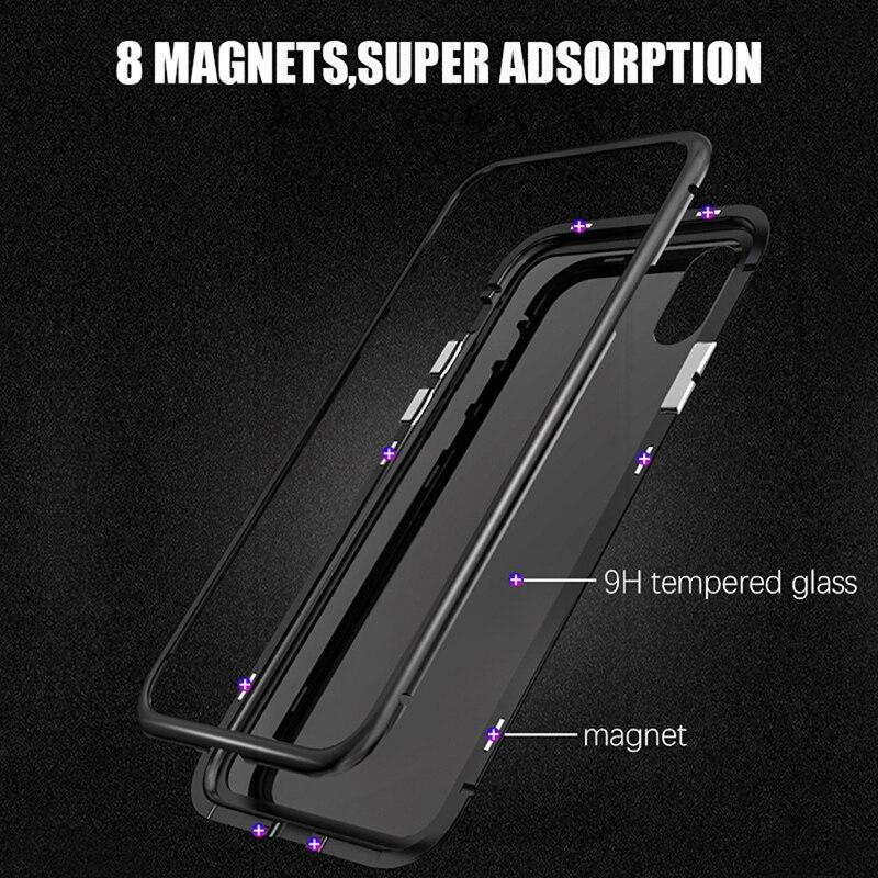 Image 4 - Магнитный металлический чехол для телефона для iPhone XR XS MAX X 8 Plus 7, чехол из закаленного стекла на заднюю панель, чехол s для iPhone 8 7 6 6S Plus X, чехол-in Чехлы-книжки from Мобильные телефоны и телекоммуникации on AliExpress - 11.11_Double 11_Singles' Day