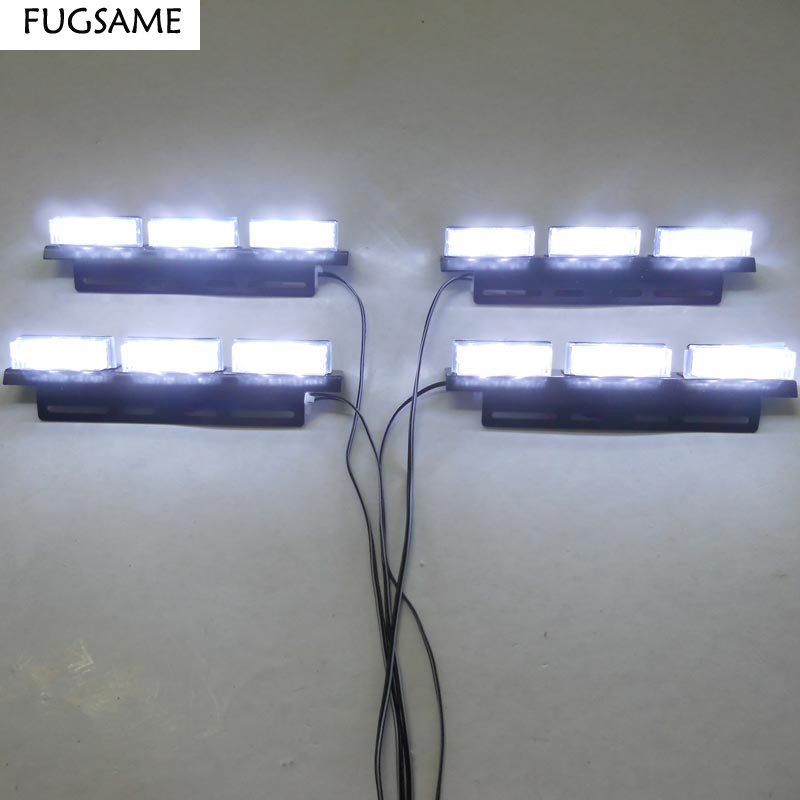 FUGSAME ZDARMA DOPRAVA Super Bright 4 * 6 LED Car Stroboskop Light - Autosvětla