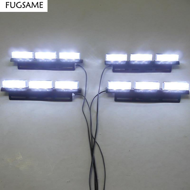 Transporti FUGSAME FALAS Super Bright 4 * 6 LED Car Strobe Light High - Dritat e makinave - Foto 1