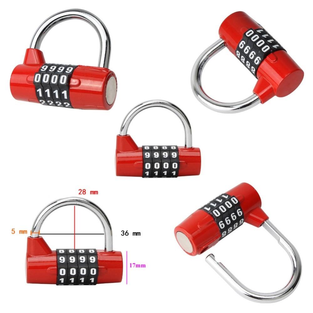 1 pc Security Lock Practical Travel Bag Luggage Padlock 4 or 5 Digit Combination