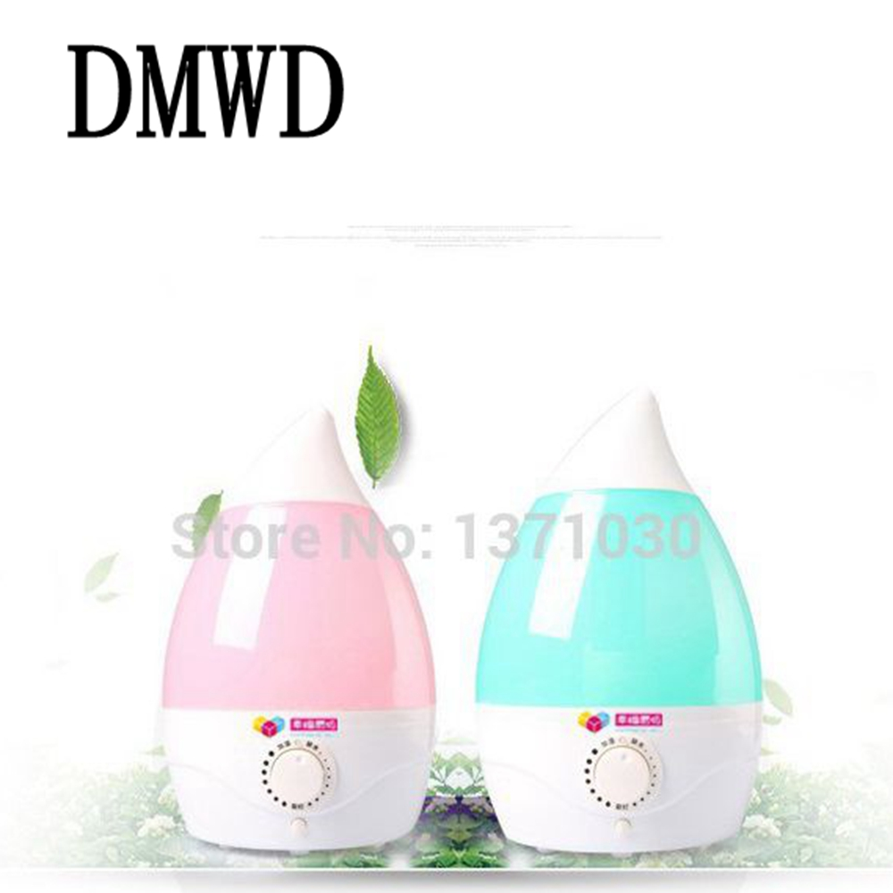 DMWD New office silent air humidifier 2L Mini household cleaner genuine small droplets Spray