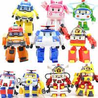 4 Uds./6 uds. Robocar Corea Robot Juguetes para niños figura de acción de Anime figuras súper alas Poli Juguetes para niños Playmobil Juguetes
