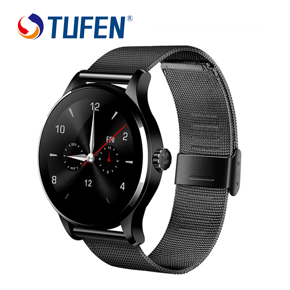 K88H Smart Watch IOS Android Heart Rate Monitor Watch 1.22 Inch IPS Round Screen Bluetooth SmartWatch For iphone 6 huawei xiaomi heart rate monitor bluetooth smart watch s2 smart health clock smartwatch for iphone ios android phonewatch with camera whatsapp
