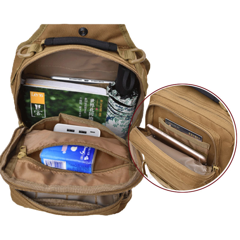 Image 5 - Tactical Chest Backpack Military Bag Hunting Fishing Bags Camping Hiking Army Hiking Backpacks Mochila Molle Shoulder Pack XA65AClimbing Bags   -