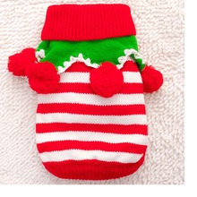 50pcs/lot New Dogs Clothes Warm Sweater Pullover Coat Winter Christmas Cat Clothe Pet Apparel Sweater Puppy Coat Outwear WA1209