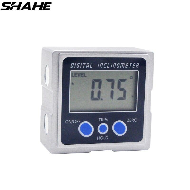 Liga de alumínio Eletrônico Transferidor Com superfícies 3 ímãs Mini Bevel Box Digital Medidor de Ângulo Digital Transferidor Inclinometer