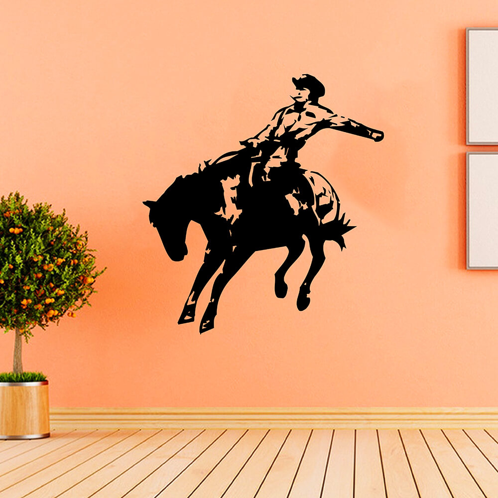 Zuczug 55 59cm Indoor Wall Horse Racing Style For Boy 3d Removable Wall Decals Home