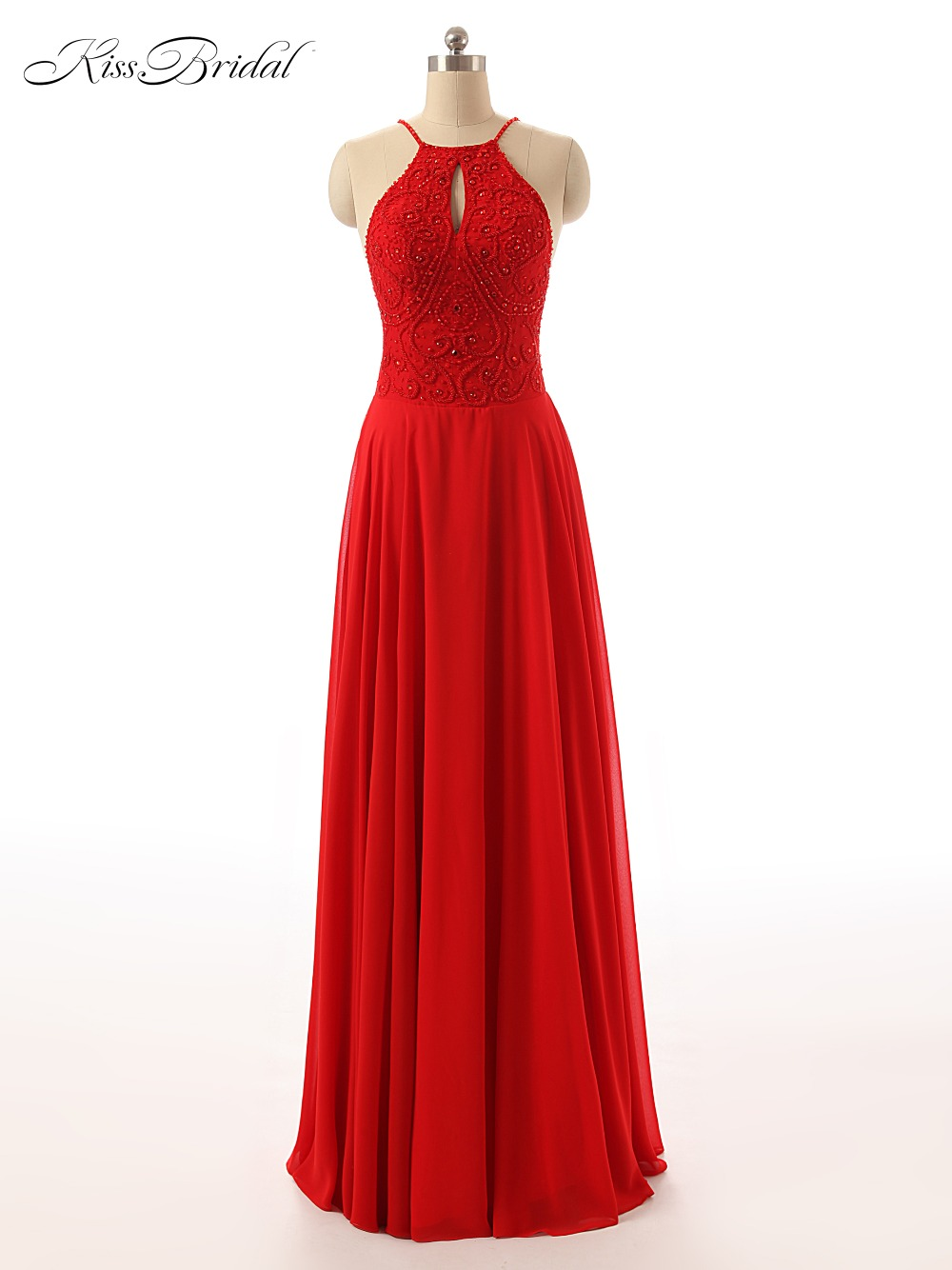 Sexy Red Mermaid Prom Dress 2017 Long Halter Beaded Slim Backless vestidos de fiesta Formal Evening Gown Party Pageant Dresses
