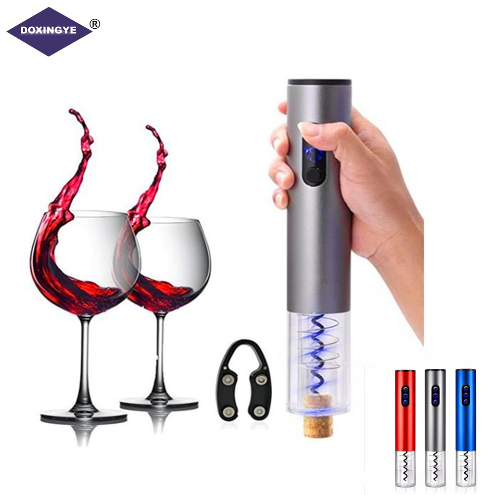 New Electric Wine Grape Wine Bottle Opener Corkscrew Automatic Wine Bottle Opener Kit Cordless With Foil Cutter Bar Wine Tools