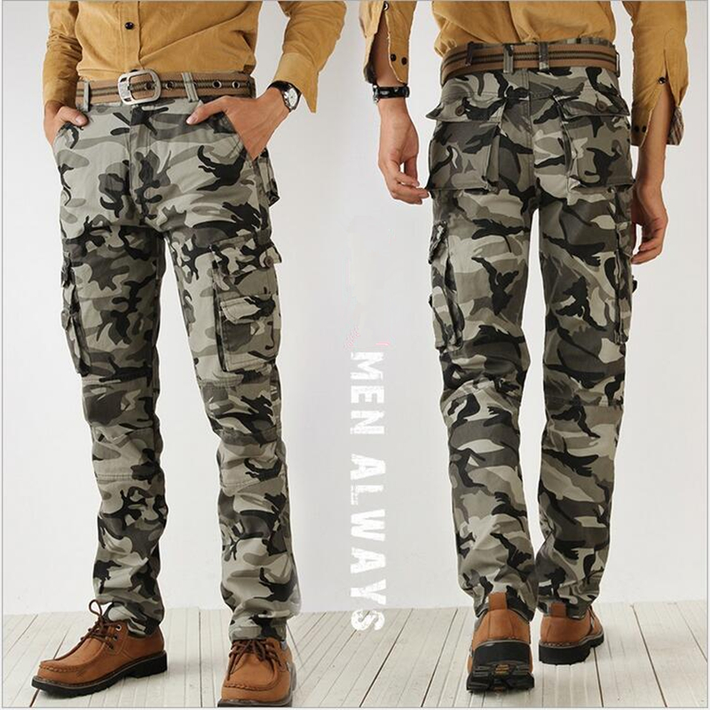 2017 الرجال السراويل الخريف الجيش الأزياء شنقا المنشعب عداء ببطء السراويل خليط حريم السراويل الرجال المنشعب كبير التمويه السراويل حجم 38