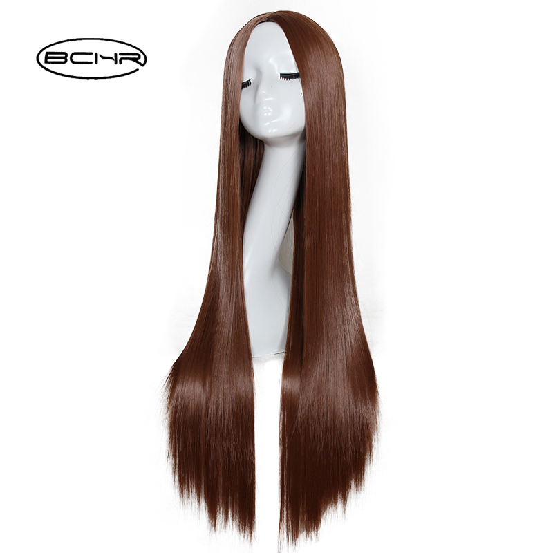 Bchr 80 см Длинные прямые Косплей термостойкие синтетический парик для обувь для мужчин  ...