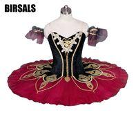 Black Red La Esmeralda Professional Ballet Tutu Girls Classical Ballet Tutu Stage Costume Adult Performance Pancake
