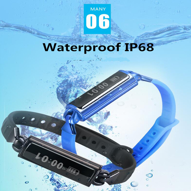 Original DB02 smart band with Mileage Waterproof IP68 Heart rate monitor Sleep monitor bracelet for IOS