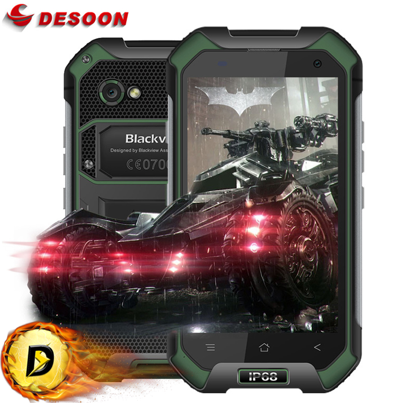 In Stock Original Blackview BV6000 Android 7.0 Mobile phone 4G LTE MTK6755 Octa Core 3GB+32GB 13MP GPS Glonass IP68 WaterProof