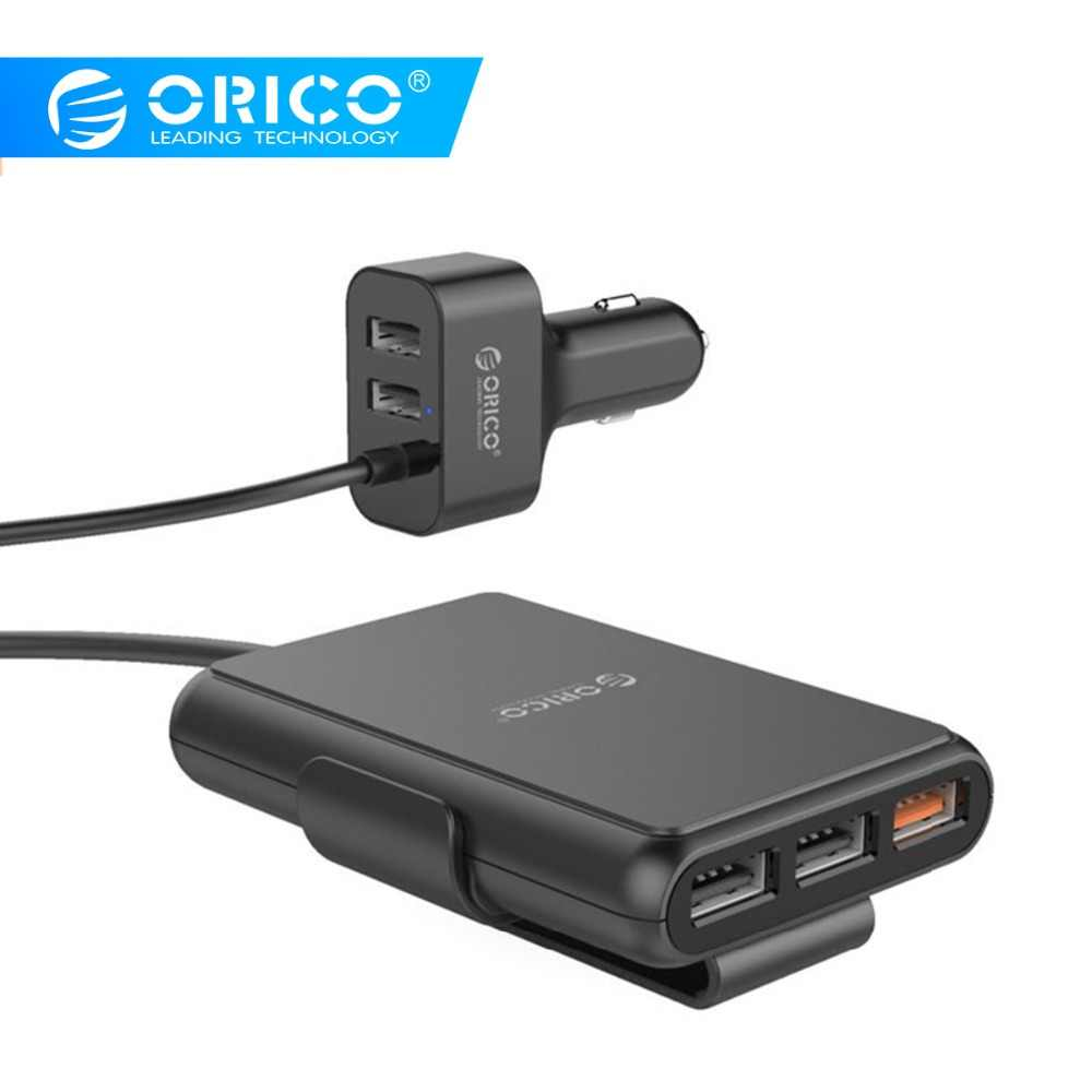 Orico 5 USB Output QC3.0 Mobil Pengisian Cepat 3.0 Universal USB Charger Cepat 52 W untuk iPhone X 8 Samsung xiaomi Charger Ponsel
