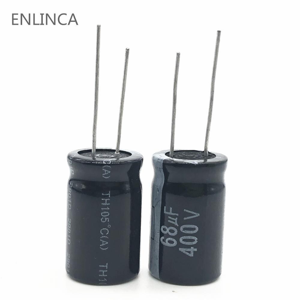 10PCS 100uf 400v Nichicon GJ 25x20mm 400V100uF Snap-in PSU Capacitor