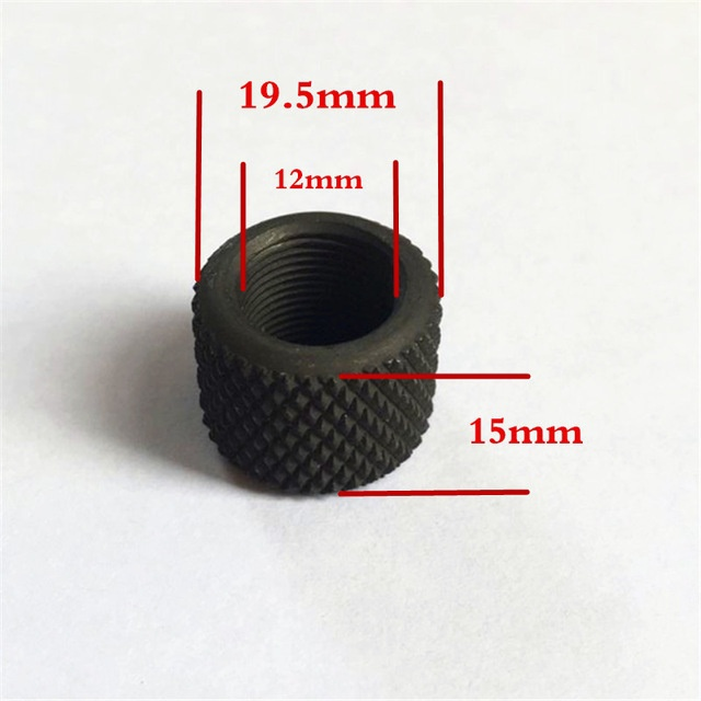 Magorui Steel .750 Diameter 223 308 Muzzle Brake Barrel Thread Protector 1/2x28 5/8x24 Pitch magorui 223 5 56 ambidextrous safety selector ambi replaces mil spec steel