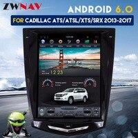 ZWNVA Тесла Стиль ips Экран Android 6,0 2 + 64 ГБ радио автомобиля gps навигации нет DVD плеер для Cadillac ATS/ацл/ХЦ/SRX 2013 2017