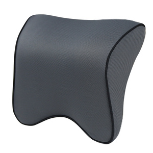 Image 5 - S1 ヘッドレスト車の首枕シート腰椎枕自動車バックヘッドレスト低反発生地チェアサポートクッションカバー
