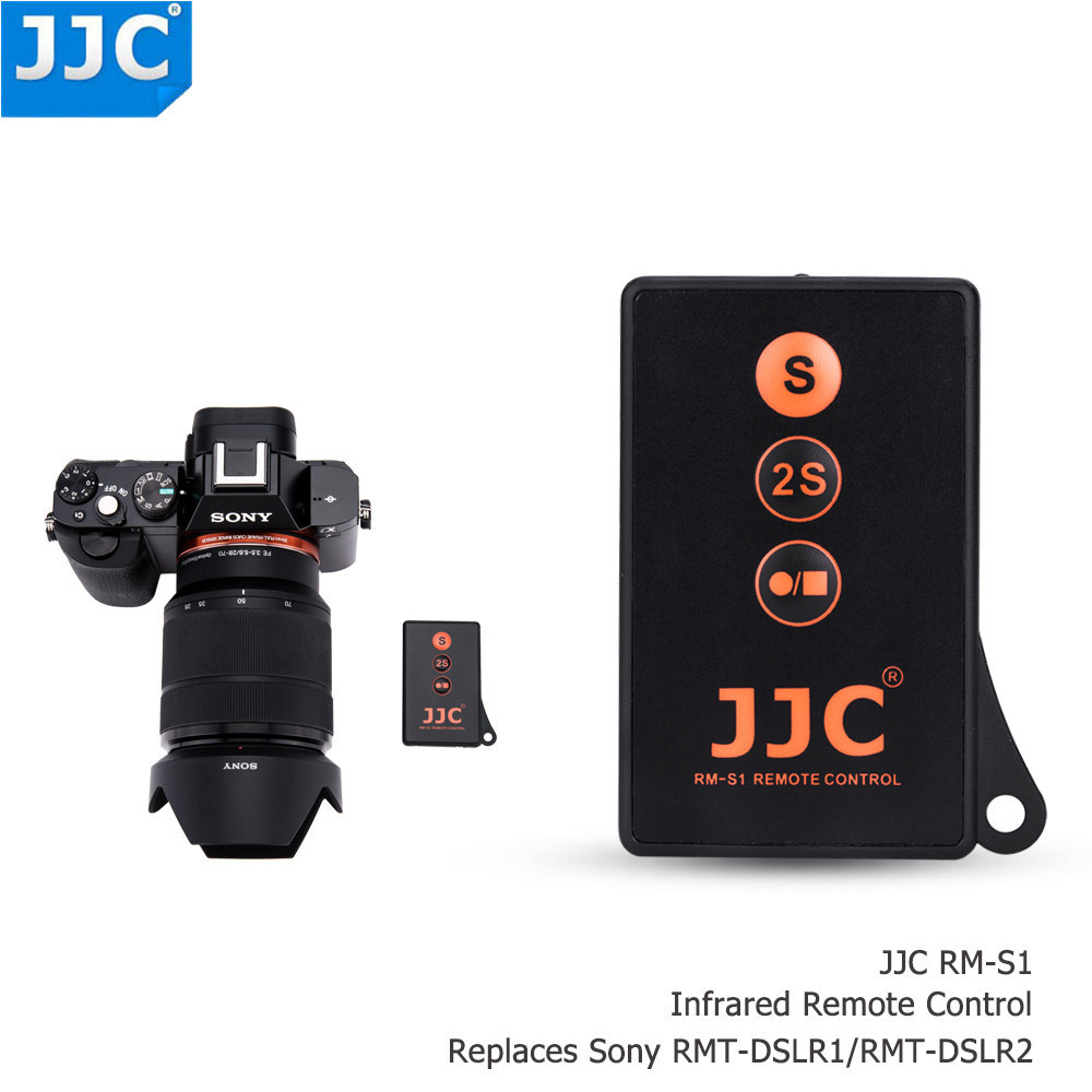 JJC Wireless Remote Control for SONY A7SIII/A7RIII/A7S/A7III/A6300/NEX5/NEX 5N/NEX5R/NEX 6/NEX 7/A77II AS RMT-DSLR1/RMT-DSLR2