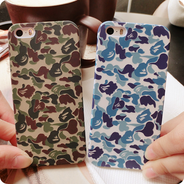 Popular Bape Pithecanthrope Camouflage Fashion Scrub Phone Shell Case Protective Iphone 6Plus/6/5S/5C/4S/4 Free Ship  -  Anifer Technology Co., Ltd store