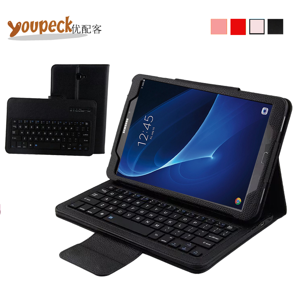 3-in-1 DETACHABLE Wireless Bluetooth Keyboard Case for Samsung Galaxy Tab A 10.1 inch T580 PU Leather Cover +US QWERTY Keyboard