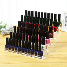 Fashion Clear Acrylic Six Layers Nail Polish Shelf Lipstick Display Holder Women Makeup Cosmetic Organizer Nail Polish Rack