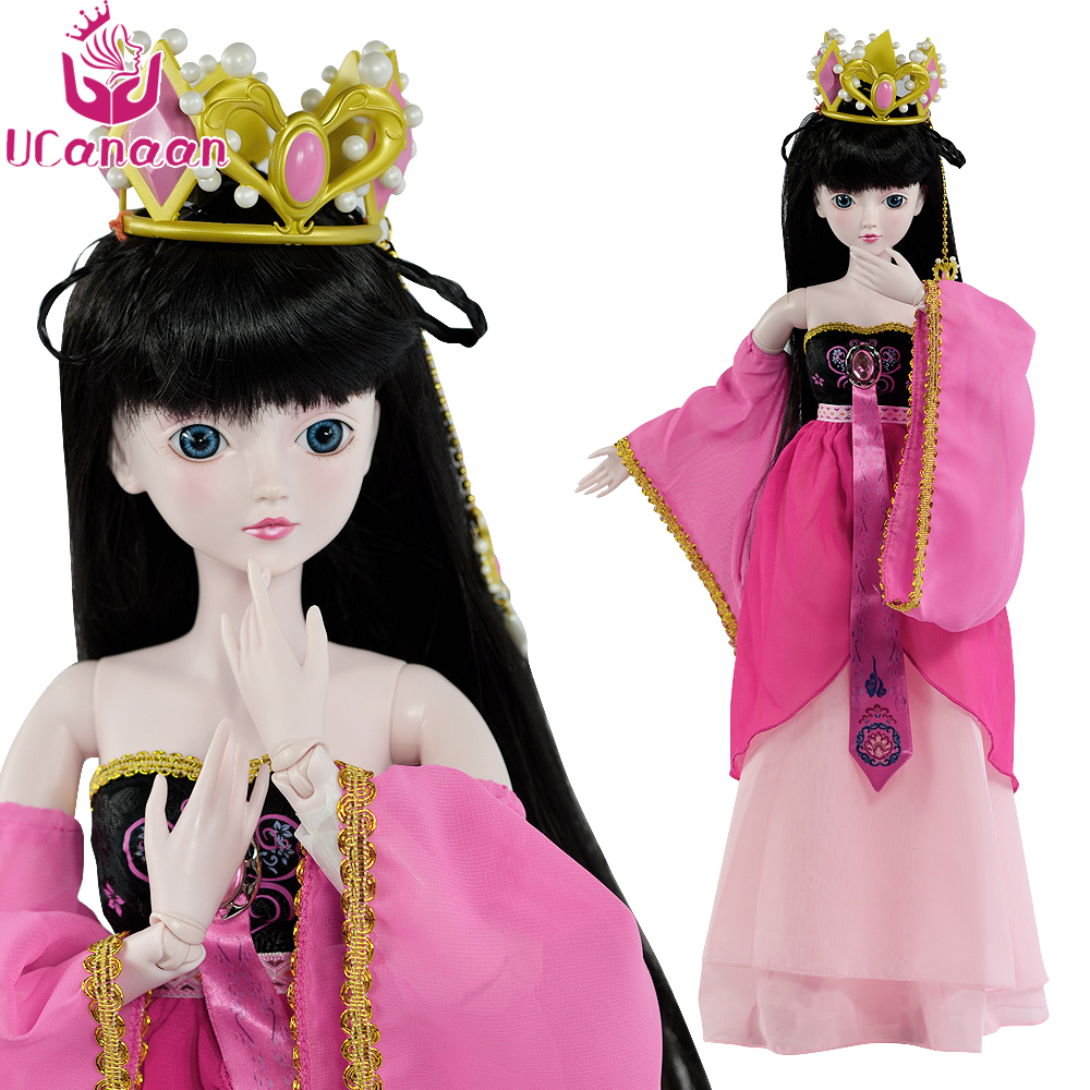 Ucanaan 1/3 Large BJD SD Doll 19 Ball Jointed Girls Dolls Silicone Reborn Children Toys With Full Outfits Makeup Girl DIY Toy диск replay hnd11 7x17 5x114 et47 0 sil page 2