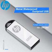 Movimentação dustproof impermeável 16 gb/8 gb/32 gb/64 gb da pena da movimentação do flash de usb da movimentação do metal de hp v220w(China)