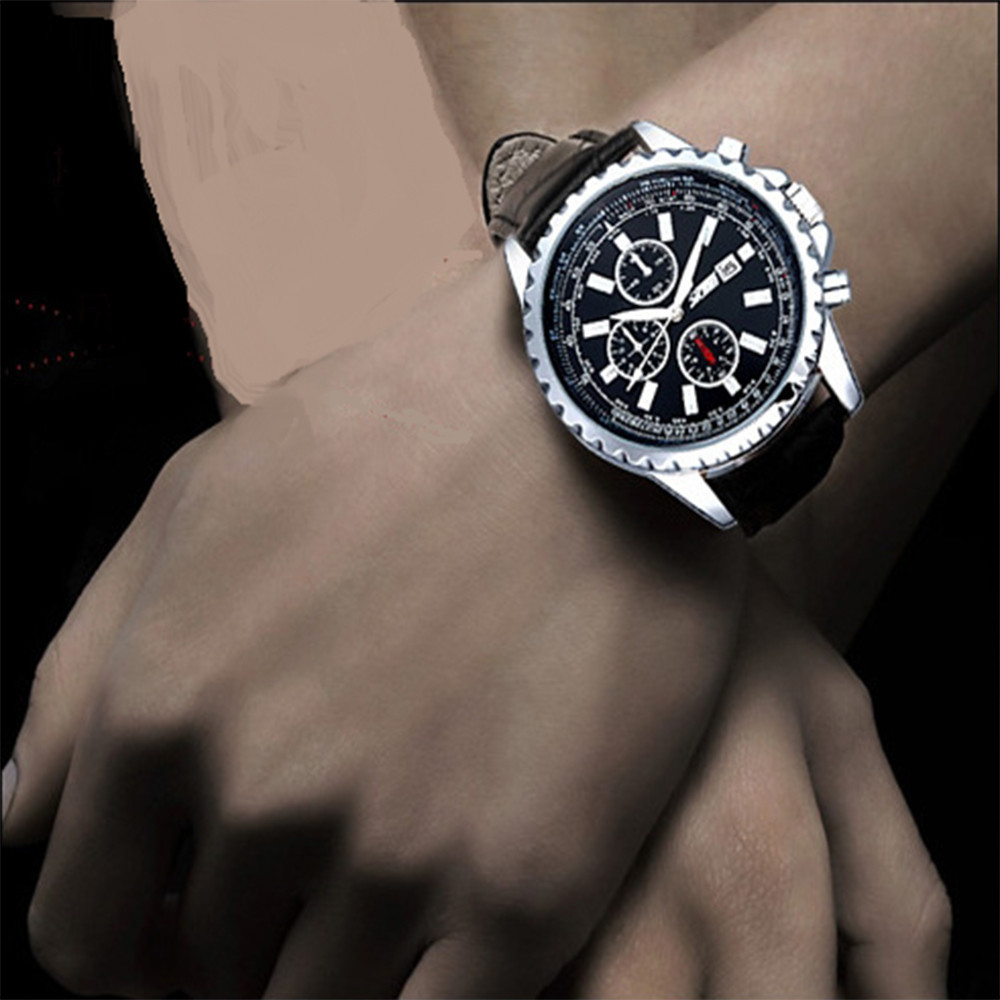 Skmei Quartz Retro Leather Time Date Men s fashion