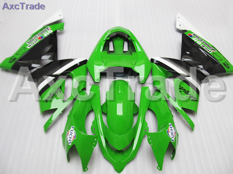 High Quality ABS Plastic For Kawasaki Ninja ZX10R ZX-10R 2004 2005 04 05 Moto Custom Made Motorcycle Fairing Kit Bodywork Green