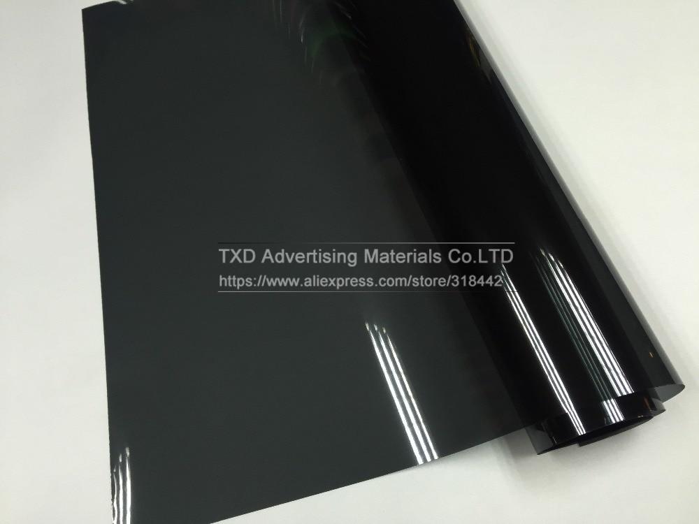 Premium VLT 20% 50x300CM/Lot Black Car Window Tint Film Glass 1 PLY Car Auto House Commercial Solar Side window Tint film