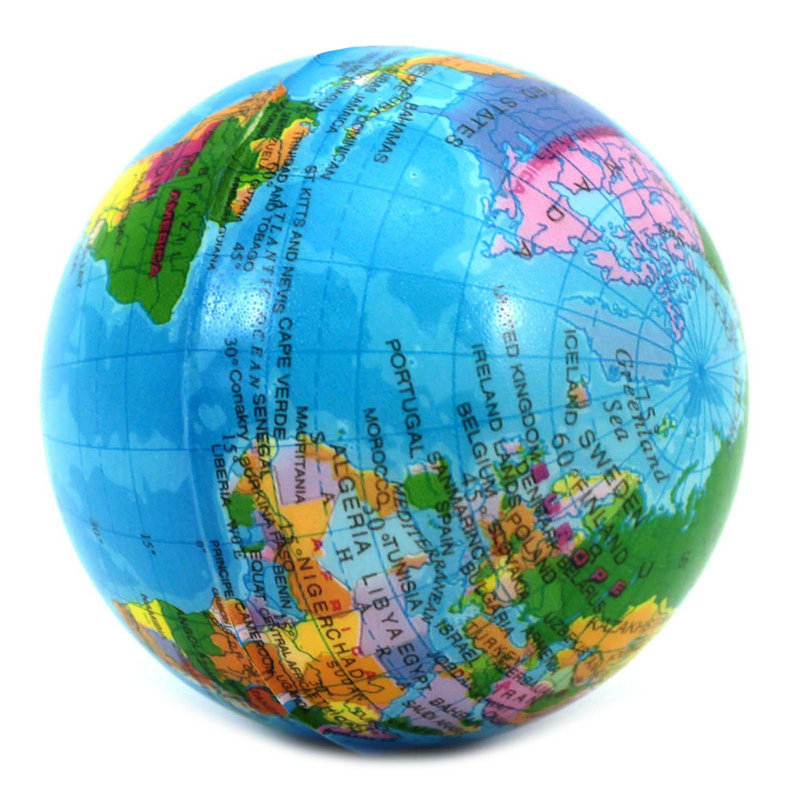 1x красочные карта мира география глобус интересный инструмент сброса давления пена мяч карта мира Educationa