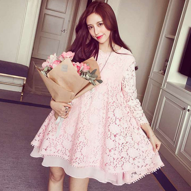 Plus Size Dresses Women 2017 Spring Autumn Fashion Baby Doll Cute